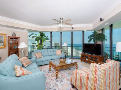 Photo for East Corner-Beautiful Gulf Views and Access to Wraparound Balcony from ALL rooms