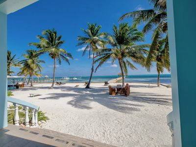 Photo for B1 🌴  Beachside with pool 😎 , porch, kayaks, bikes & more!  🇧🇿