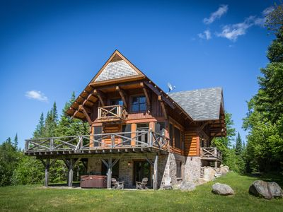 Photo for Luxury 5 bedroom Cote Nord Log Cabin