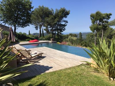 Photo for SPLENDID ARCHITECT VILLA PANORAMIC AND SEA VIEW WITH HEATED POOL  / 10 PEOPLE