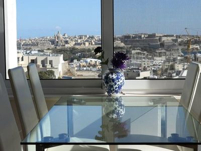 Photo for Sacred Heart  apartment in Sliema with WiFi, integrated air conditioning, private roof terrace, bal…