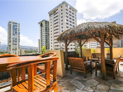 Photo for Private Oasis in the heart of Waikiki. Large private lanai. 1bd condo, sleeps 4. Bamboo Waikiki #903