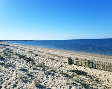We have beach rights and access to this beautiful beach just across the road.