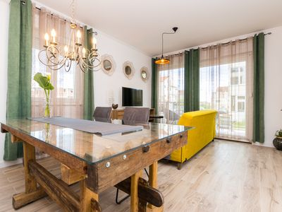 Photo for Apartment with privat pool & garden, near the beach