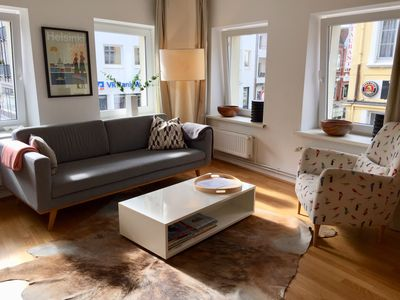 Photo for Tastefully furnished 65sqm large apartment in central Husum