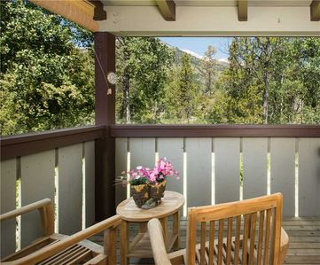 Deck w/ Berry Patch Views and Small Electric Grill