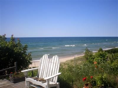 Photo for 2 bedroom, 1 bath Cottage will Panoramic views of Lake Michigan!