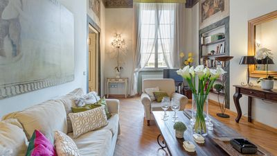 Photo for Romantic Apartment Inside the Walls of Lucca With View Over Cathedral Square