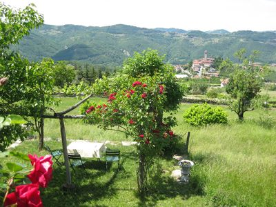 Photo for Idylisch situated country house with ample views (two house parts)