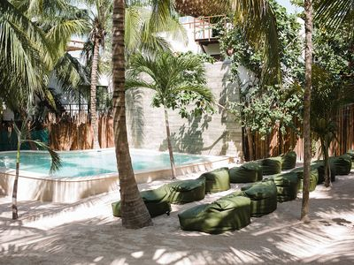 Photo for 3BR Zorba Villa on Tulum beach with incredible pool!