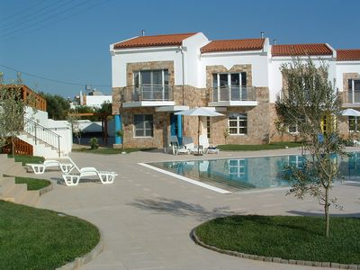 Photo for Superb Grapevines Villa with glorious large Pool. Nearby Blue Flag beach
