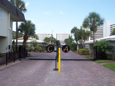 Security gate entering property