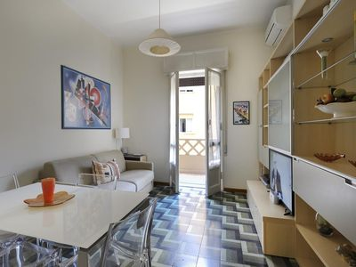 Photo for Murri apartment in Bologna with WiFi, integrated air conditioning, balcony & lift.