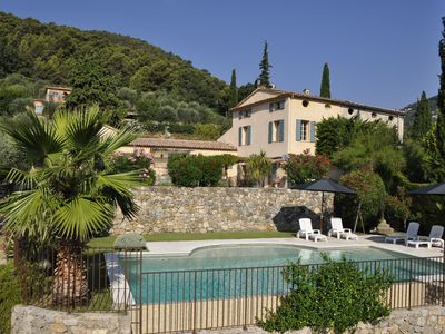 Photo for GRASSE - Fully restored 19th century house - Heated private pool