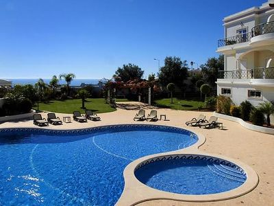 Photo for Luxury Apartment with Sea view, shared Pool and Gardens, Sleeps 6