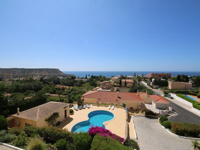 Photo for T2 Apt with a fascinating sea view, in a condominium with pool in Praia da Luz
