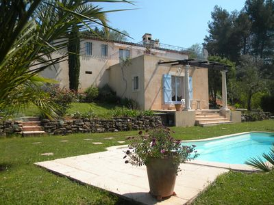 Photo for MOUANS SARTOUX VILLA, POOL, PANORAMIC VIEW, 15 MN BEACHES CANNES - WIFI
