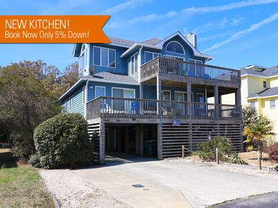 Photo for Pet Friendly Corolla Home with Pool, Hot Tub and Water Views!