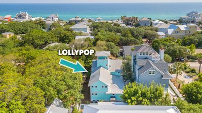 """Photo for One street outside Seaside """"Lollypop"""" 4BR Sleeps 10 - Summer Discounts Avail"""