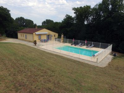 Photo for Black Perigord cottage with private pool