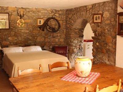 Photo for Quiet apartment between olives overlooking the Apuan Alps