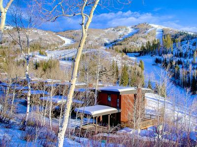 Photo for Off Season & Summer Deals! On Mountain, Hike Out w/Unbelievable Views, Decks, Pool, Hot Tub, Gym