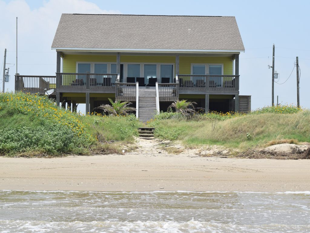 Miraculous Top Ranked Beachfront House In Crystal Beach Floor To Ceiling Ocean Views Crystal Beach Download Free Architecture Designs Viewormadebymaigaardcom