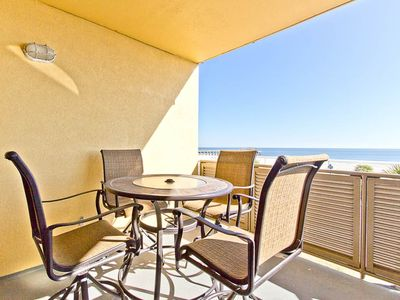 Photo for Directly Oceanfront Condo with Great Views of Ocean, Pier, and Beach! Close to Dining and Shops!