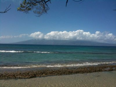 Island of Molokai. During high tide you can swim over this reef.Great snorkeling