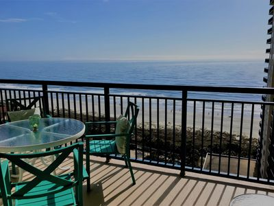 Direct ocean front views from the largest balcony of all Brighton units.