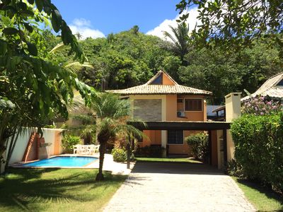Photo for House with 4 suites with pool opposite the beach in Porto Seguro