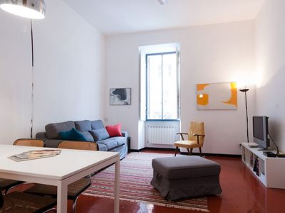 Photo for Elizabeth House apartment in Termini Stazione with WiFi, air conditioning, shared garden & lift.