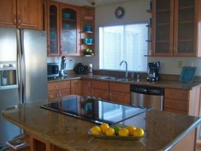 Kitchen completely remodeled with all appliances and fully stocked.