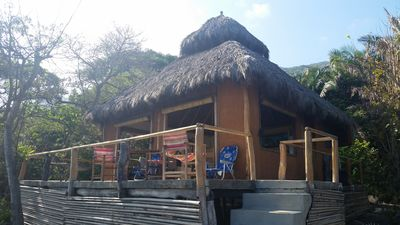 View of palapa from ocean side