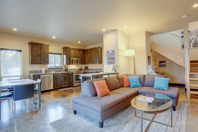Family room, dining, kitchen