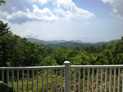 Beautiful Long-Range Mountain Views from the Partially covered Deck.