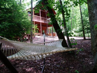 Time to relax...at the cabin and in the hammock by the water!