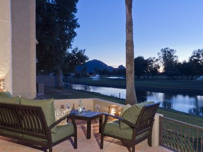 Photo for SANITIZED Escape to this rare waterfront condo in this McCormick Ranch Hideaway - By PADZU