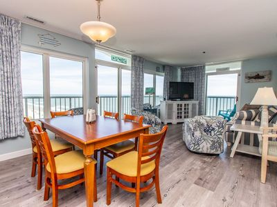 Photo for ROOMY, RENOVATED OCEANFRONT CONDO WITH HUGE BALCONY - & TENNIS MEMBERSHIP!