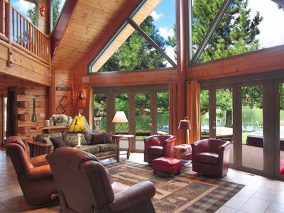 Photo for The Lodge close to everything yet your own private 10 ac . backyard to play in !