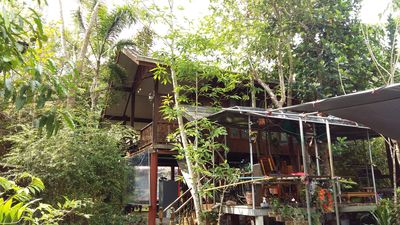Photo for Two convenient air conditional cottages in fruit farm with durian, mangosteen