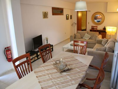 Photo for New spacious apartment with sea view, near the beach in Platanes and Rethymno