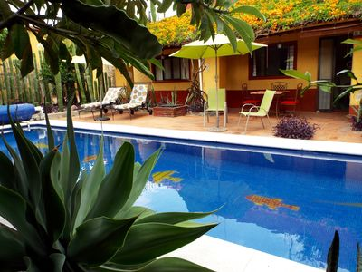 Photo for Spacious villa with pool in central location