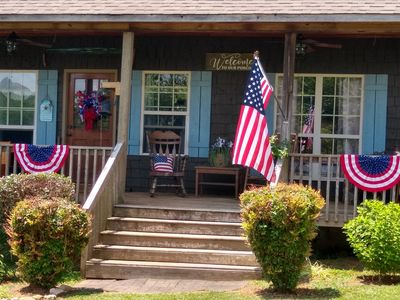 Photo for COUNTRY CABIN 2BR, 2BA- Beautiful, peaceful setting--Pet Friendly( $50 per pet)
