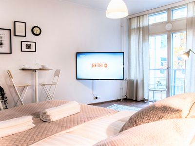 Photo for ⭐Central Station Studio | French Balcony & Netflix