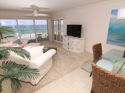 Photo for Beachside Beauty, 5th Floor Wrap Around Balcony, Oceanfront, No-Drive Beach!