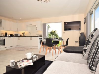 A well designed open-plan lounge/kitchen/diner which allows you to enjoy the countryside views
