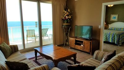 Photo for BIG Beachfront Balcony and New Furnishings