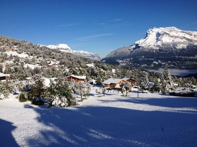 Photo for Well Located Beautiful Chalet with heated Spa/Jacuzzi In Saint Gervais/Megève