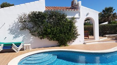Photo for Villa in Binibeca with Private Pool And Sea Views From Roof Terrace